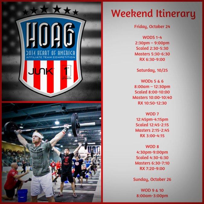 HOA6 Itinerary