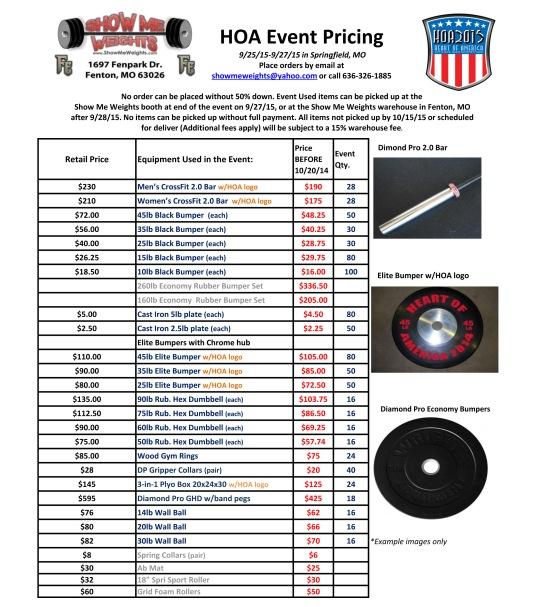 2015HOA Pricelist