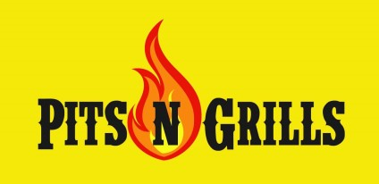 Pits N Grills Logo bigger yellow background